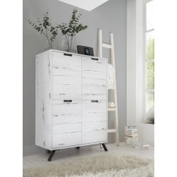 Parma-white oak modern highboard