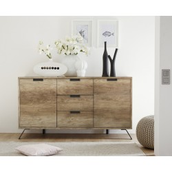 Parma-retro canyon oak finish sideboard