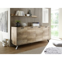 Parma- retro canyon oak 4 door sideboard