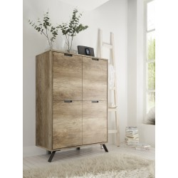 Parma-retro canyon oak highboard