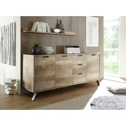Parma- retro canyon oak 3 door sideboard