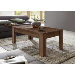 Amber cognac oak finish coffee table