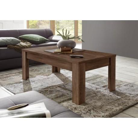 Amber cognac oak finish coffee table