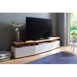 Simon - solid oak and lacquer TV stand