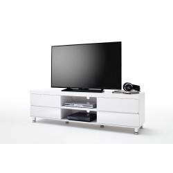 Dion I - white high gloss tv unit