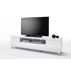 Dion II - white high gloss tv unit