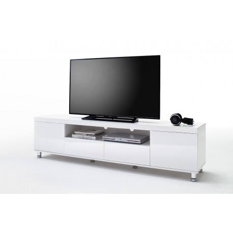 Dion Ii White High Gloss Tv Unit Tv Stands 3128 Sena Home