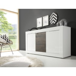 Dolcevita three door sideboard in wenge and white gloss