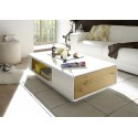 Corin - matt lacquer coffee table with drawer