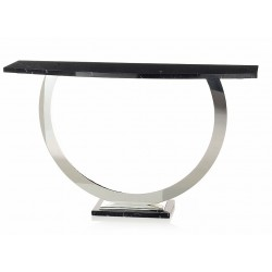 Orbit Console Table Stainless Steel with stone top