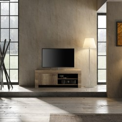 Capri 140cm TV Stand in canyon oak finish