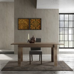 Capri 137cm canyon oak extendable dining table