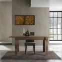 Capri 137cm canyon oak extendable dining table