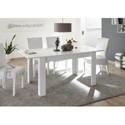 Miro - decorative white gloss dining table