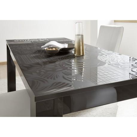 Miro - decorative grey gloss dining table