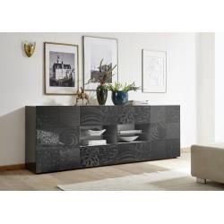 Miro 241cm - grey gloss decorative sideboard