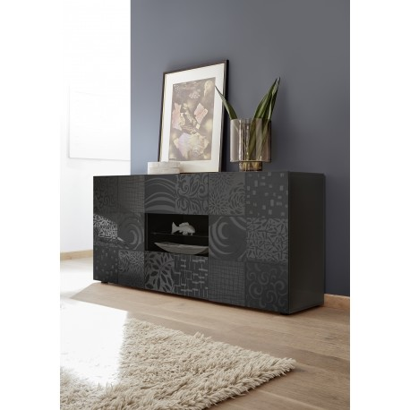 Miro 181cm grey gloss decorative sideboard