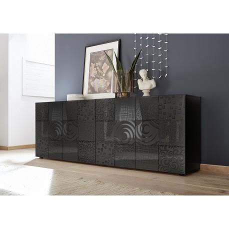 Miro II 241cm grey gloss decorative sideboard