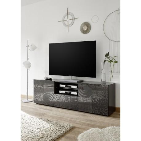 Miro 181cm grey gloss decorative TV Unit