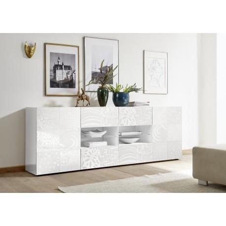 Miro 241cm - white gloss decorative sideboard