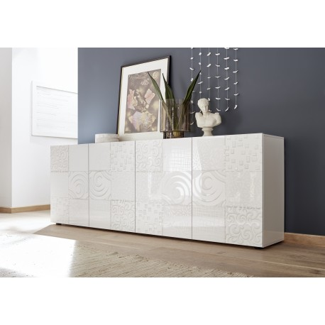Miro II 241cm white gloss decorative sideboard