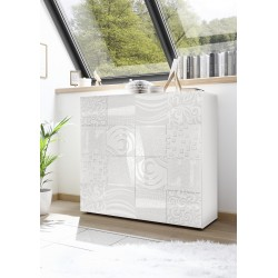 Miro white gloss decorative highboard