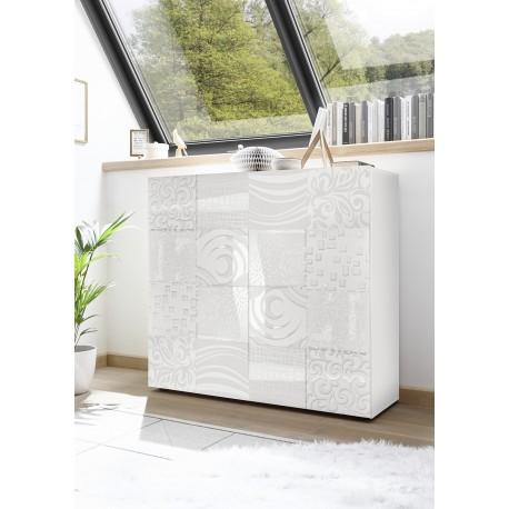 Miro white gloss decorative highboard