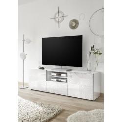 Miro 181cm white gloss decorative TV Unit