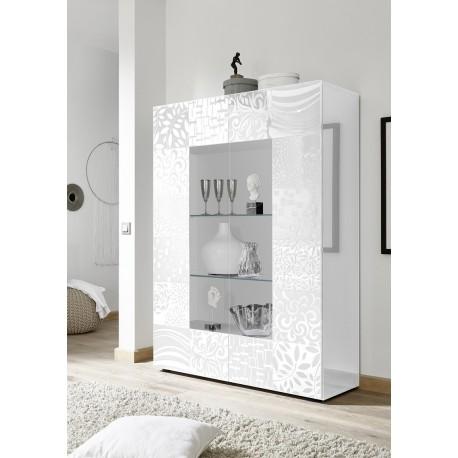 Miro two door white gloss decorative display cabinet  sc 1 st  Sena Furniture & Miro two door white gloss decorative display cabinet (3200) - Sena ...