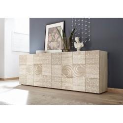 Miro II 241cm samoa oak decorative sideboard