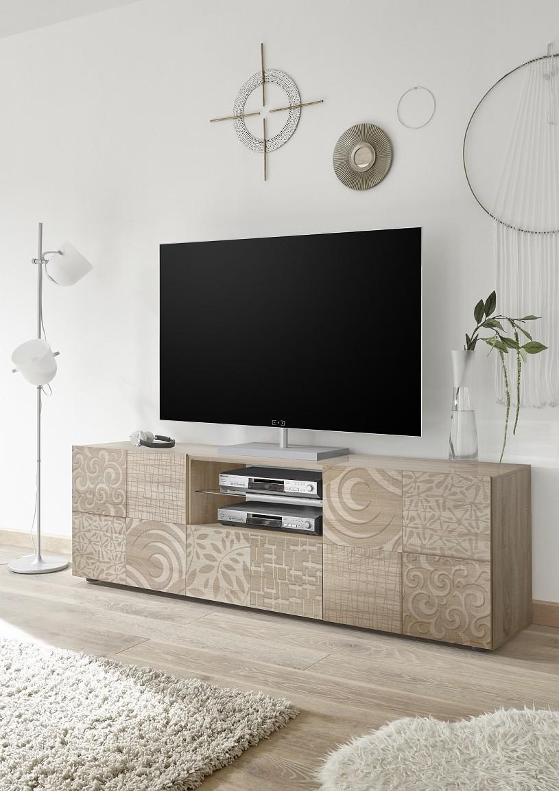 Miro 181cm Samoa Oak Decorative Tv Unit Tv Stands Sena Home  # Meuble Tv Ovio