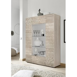 Miro two door samoa oak decorative display cabinet