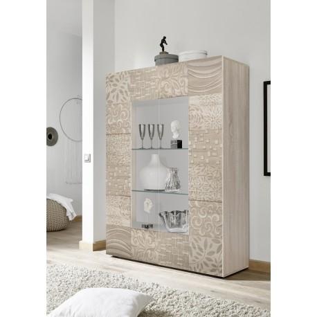 Miro two door samoa oak decorative display cabinet