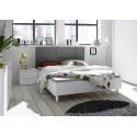 Oslo Modern bed with checkered design headboard