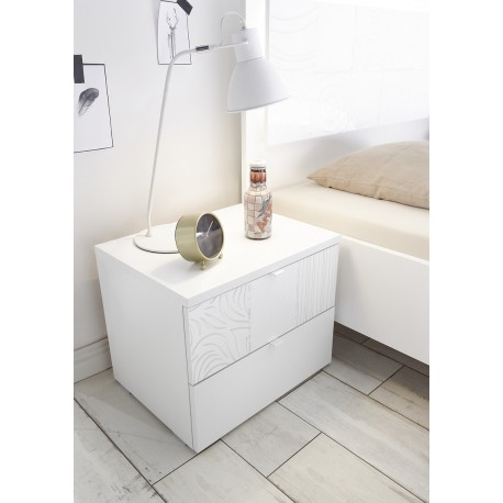 Miro Set of two bedside cabinets in white