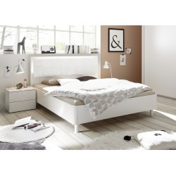 Miro Modern bed with modern headboard in white