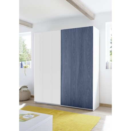 enjoy blue modern wardrobe with sliding doors - Modern Wardrobe