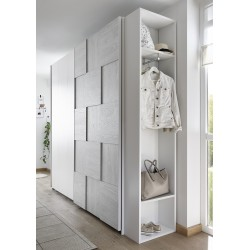 Diana grey modern wardrobe with sliding doors
