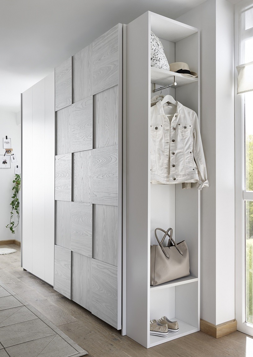 Diana Grey Modern Wardrobe With Sliding Doors Wardrobes