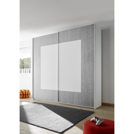 quadro grey modern wardrobe with sliding doors - Modern Wardrobe