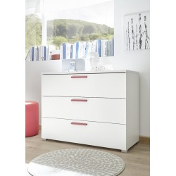 Enjoy chest of drawers with various colour handles