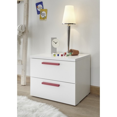Enjoy set of 2 bedside cabinets with various colour handles