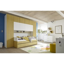 Ponte yellow wardrobe with optional bed