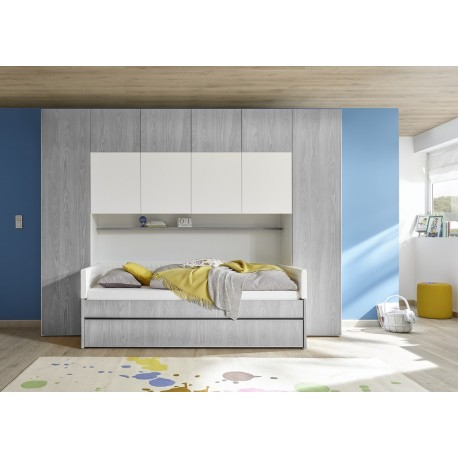 Ponte grey wardrobe with optional bed