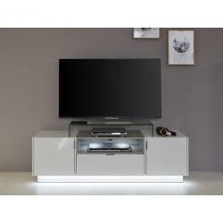 Washington 160cm white and grey TV unit with lights