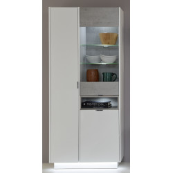 Washington white and grey display cabinet with lights