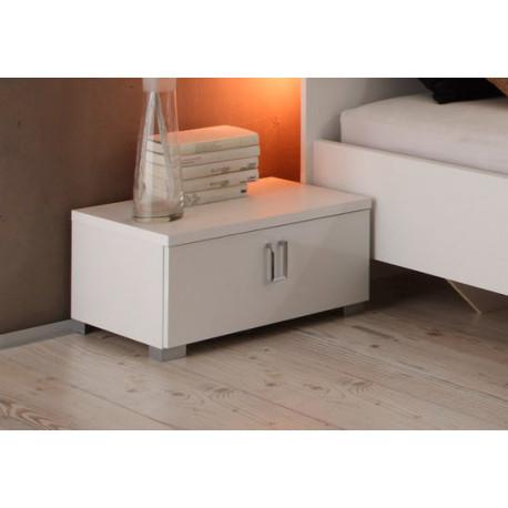Linea II - high gloss bedside cabinet