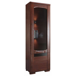 Riva assembled narrow solid wood display cabinet