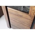 Sempre assembled solid wood display cabinet