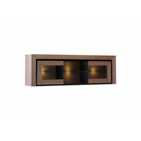 Sempre hanging display cabinet with lights